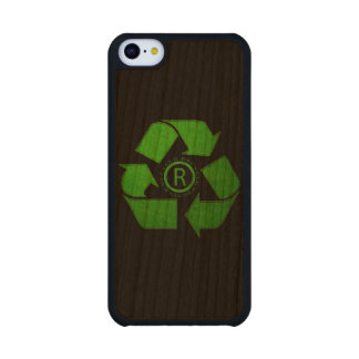 Recycle Logo Carved® Cherry iPhone 5C Case