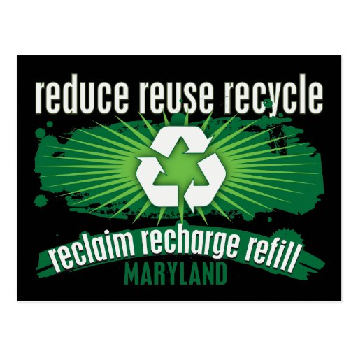 Recycle Maryland Postcards