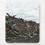 Recycle metal scrap at junkyard mousemat