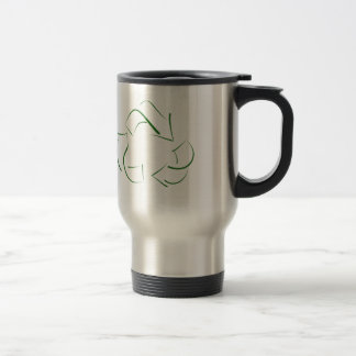 RECYCLE : modern version of the classic image Stainless Steel Travel Mug