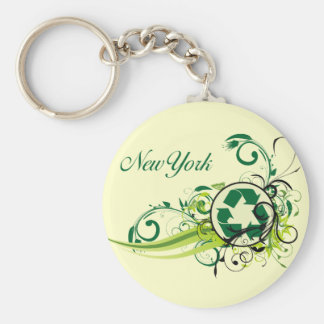 Recycle New York Key Ring