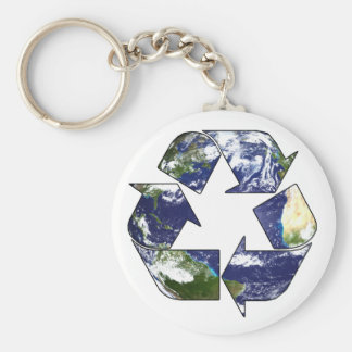 Recycle Now Keychain