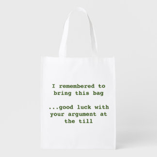 Recycle number 1 reusable grocery bag