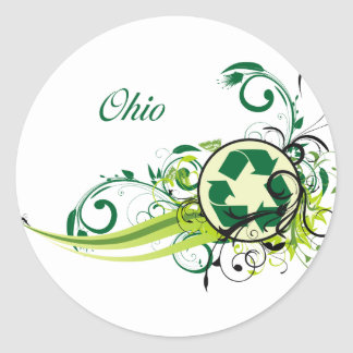 Recycle Ohio Classic Round Sticker