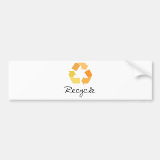Recycle! Orange design! Ecology products! Bumper Sticker