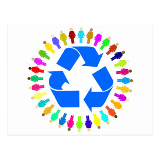 recycle people postcard