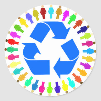 recycle people stickers