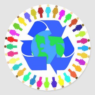 recycle people sticker