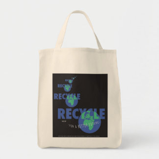 RECYCLE_print Grocery Tote Bag