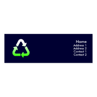 Recycle Profile Card Pack Of Skinny Business Cards