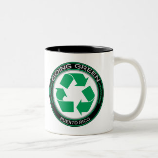 Recycle Puerto Rico Two-Tone Coffee Mug