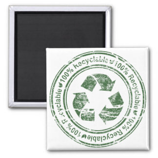 Recycle Recyclable Reuse Green Earth Fridge Magnets