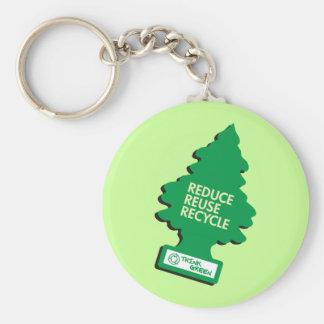 Recycle Reduce Green dark Key Chain