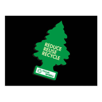 Recycle Reduce Green dark Postcard