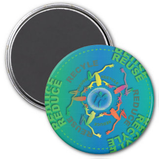 Recycle Reduce Reuse 7.5 Cm Round Magnet