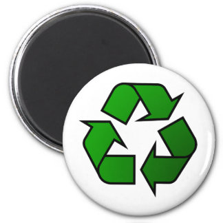 Recycle & Reuse Symbol - Save The Planet 6 Cm Round Magnet