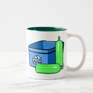 Recycle Reuse Two-Tone Mug