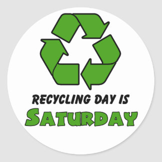 Recycle Saturday Round Sticker
