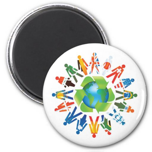 Recycle Save The Earth Magnet