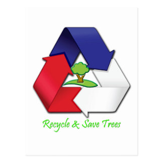 Recycle &  Save Trees Postcard
