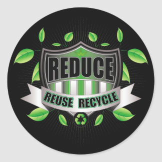 Recycle Shield Classic Round Sticker