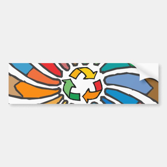 Recycle Sign Art Bumper Sticker
