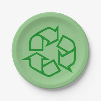 Recycle Sign Paper Plates 7 Inch Paper Plate