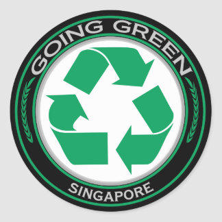 Recycle Singapore Classic Round Sticker
