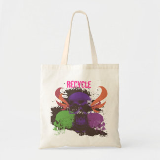Recycle Skull Budget Tote Bag