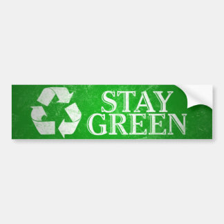 Recycle, Stay Green Bumper Sticker