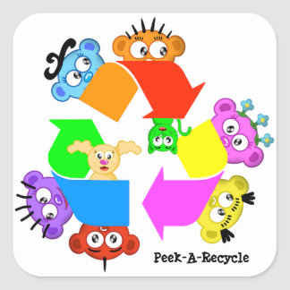 Recycle Sticker - A La Peek-A-Boo Crew