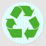 ReCycle Sticker with Blue Stripes