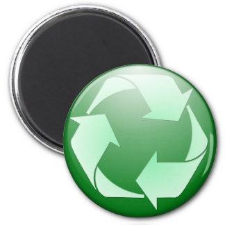 Recycle Symbol 6 Cm Round Magnet