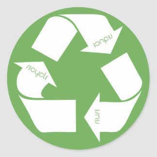 Recycle Symbol Classic Round Sticker