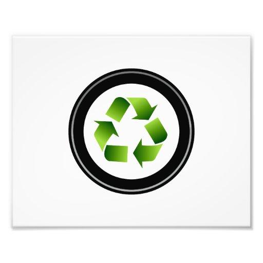 recycle symbol in black circle.png photo print