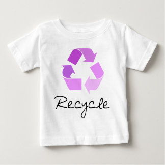Recycle symbol! lilac design! baby T-Shirt