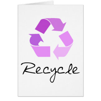 Recycle symbol! lilac design! greeting card