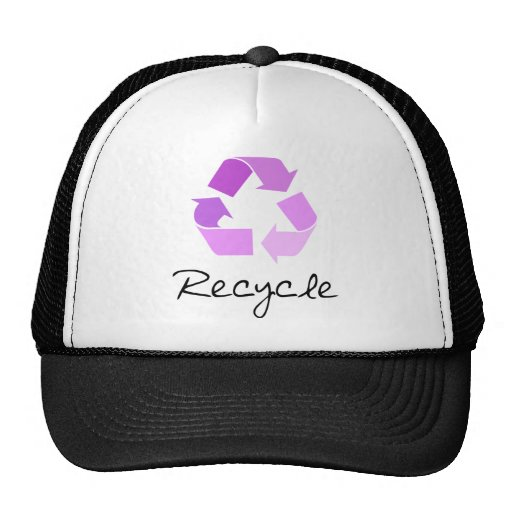 Recycle symbol! lilac design! trucker hats