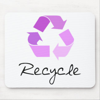 Recycle symbol! lilac design! mouse pad