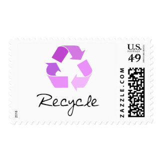 Recycle symbol! lilac design! stamps