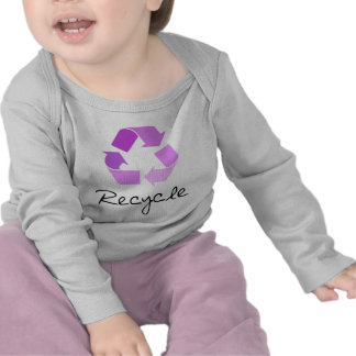 Recycle symbol lilac design t-shirts