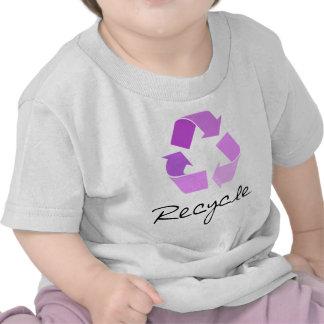 Recycle symbol lilac design tshirt