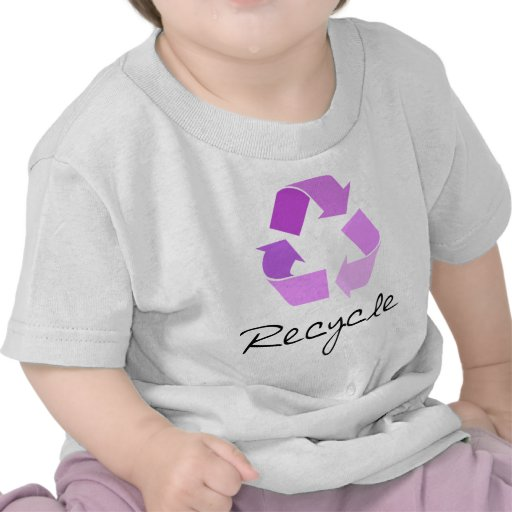 Recycle symbol! lilac design! tshirt
