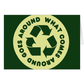 Recycle Symbol Note Card