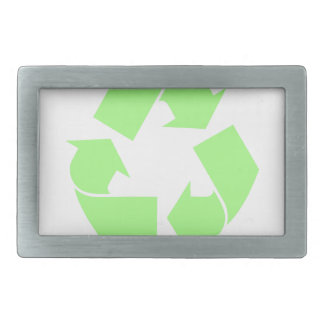 Recycle Symbol Rectangular Belt Buckle