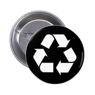 Recycle Symbol - Reduce, Reuse, Recycle 6 Cm Round Badge