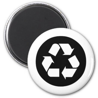Recycle Symbol - Reduce, Reuse, Recycle 6 Cm Round Magnet