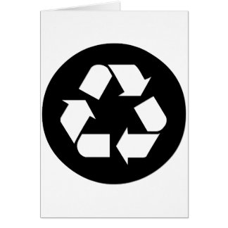Recycle Symbol - Reduce, Reuse, Recycle Card
