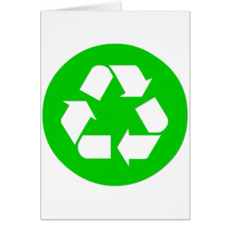 Recycle Symbol - Reduce, Reuse, Recycle Greeting Card