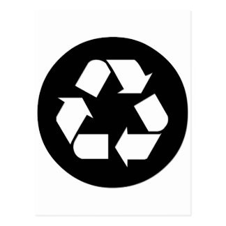 Recycle Symbol - Reduce Reuse Recycle Post Card